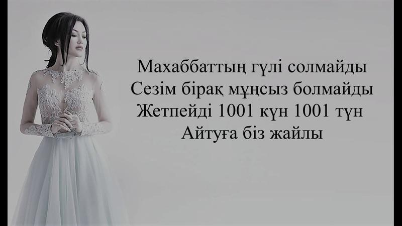 Ерке Есмахан 1001 күн Текст Lyrics Мәтін