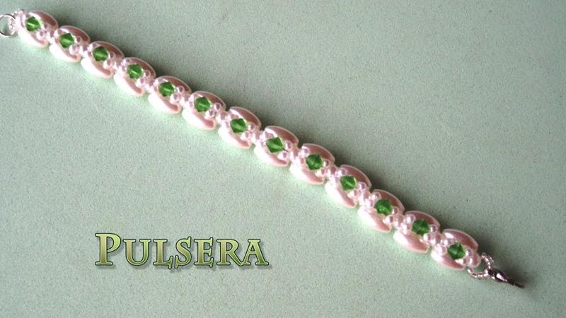 DIY Pulsera de arroces perlas y tupisDIY Bracelet of rice pearls and tupis