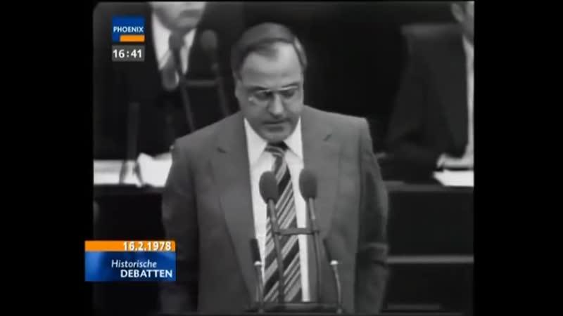 Helmut Kohl gegen Herbert Wehner 1978