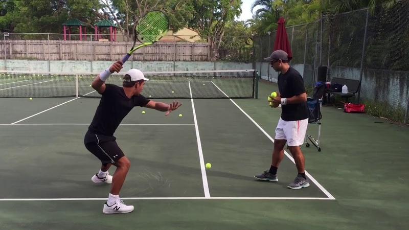 Professional tennis training with coach Brian Dabul Federer Nadal Djokovic