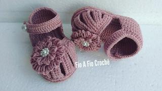 Sandália de Crochê Lilian - tamanho 10cm