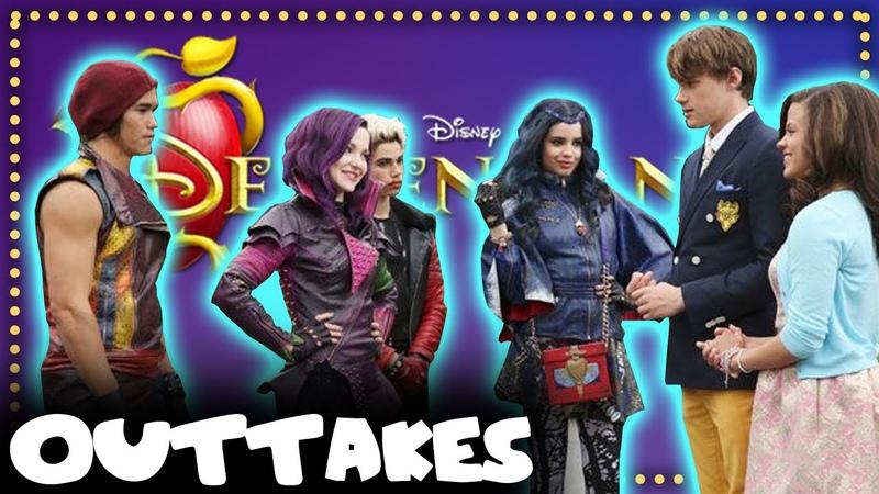 BTS Disney's Descendants Outtakes Pt 9 Mal Ben Jay evie Carlos Audrey