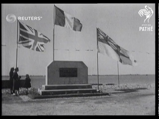 Britain and France commemorate D-Day at Normandy (1946)
