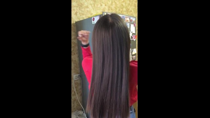 Кератиниррвание волос 👌🏻