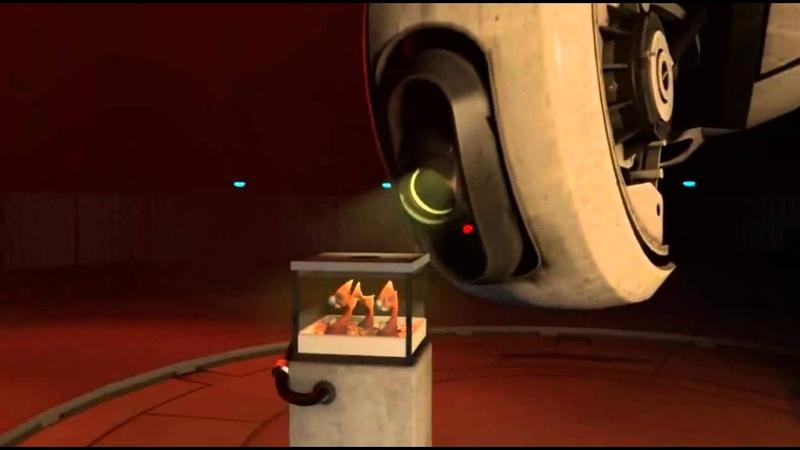 Portal 2 Co op Ending Scene GLaDOS talking to her little killers