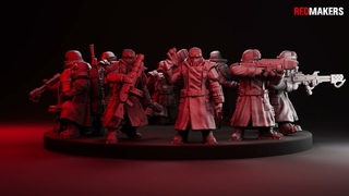 Ice Warriors. Squad of the Imperial Force. Models for 3D printing.