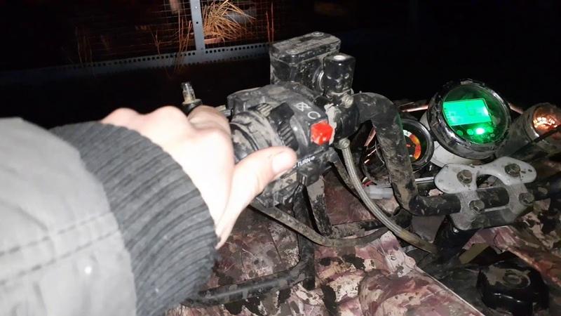 Запуск квадра ATV апаче после небольшого простоя.