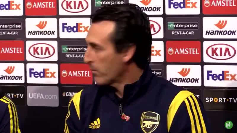 This 13 second clip just really does sum up Unai Emery in a nutshell Journalist asks question