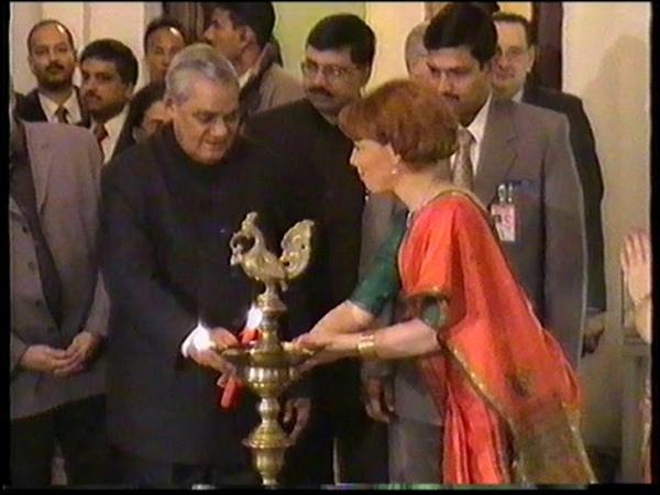 Milana Severskaya Mandira and Prime Minister of India Atal Bihari Vajpayee
