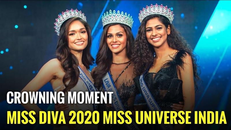 Liva Miss Diva 2020 HD Crowning Moments of Adline Castelino Aavriti Choudhary and Neha Jaiswal
