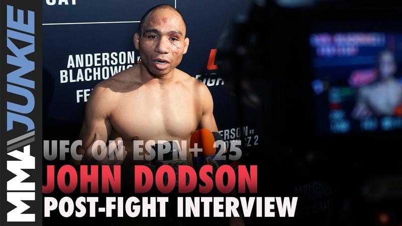 UFC on ESPN 25 John Dodson full post-fight interview
