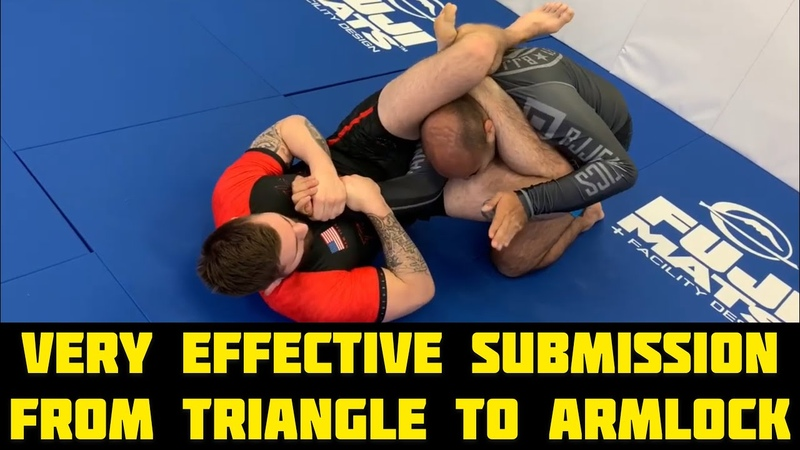 Very Effective Submission From BJJ Triangle to Armlock by Gordon Ryan