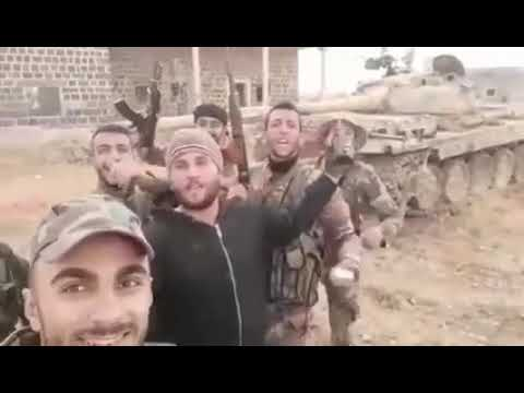 SYRIAN ARMY'S 11TH TANK DIVISION CAPTURED TERRORIST TANK IN EJAZ AXIS IN IDLIB COUNTRYSIDE 🇸🇾✌