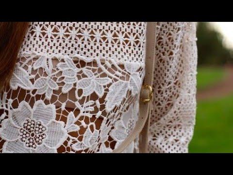 Ажурная туника. Как подобрать схемы для вязания крючком. Crochet pattern.