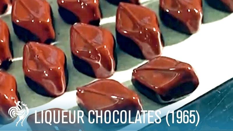 Making Liqueur Chocolates Boozy Sweet Treats (1965) | British Pathé