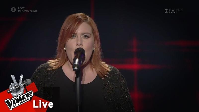Άννα Καπόνε Παπάς Je suis malade 2o Live The Voice of Greece