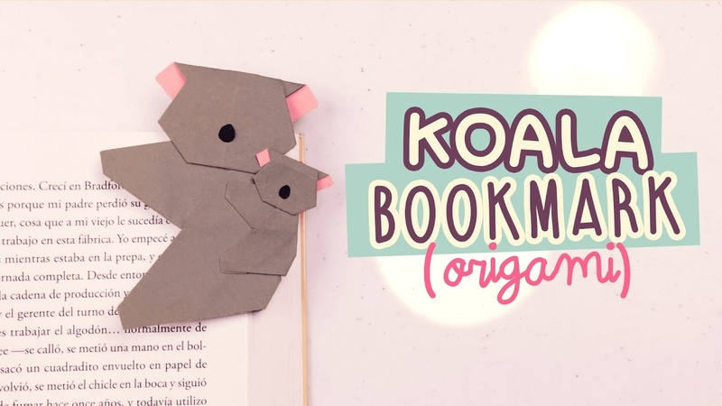 DIY MARCAPÁGINAS SÚPER TIERNO | KOALA DE ORIGAMI | OrigamiFácil | COOKIES IN THE SKY