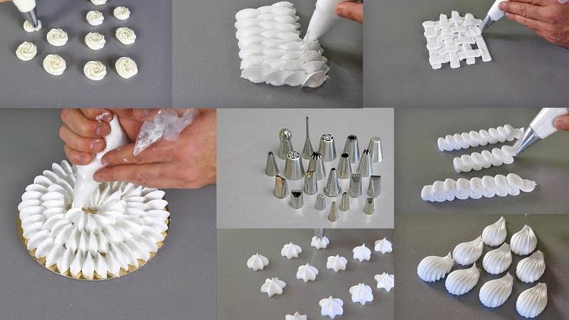 Como utlilizar las boquillas esenciales en pastelería How to use the essential nozzles for pastry