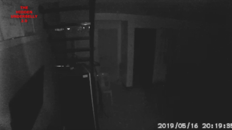 Ghostly Figure Pacing Up Down Caught On Home Security System