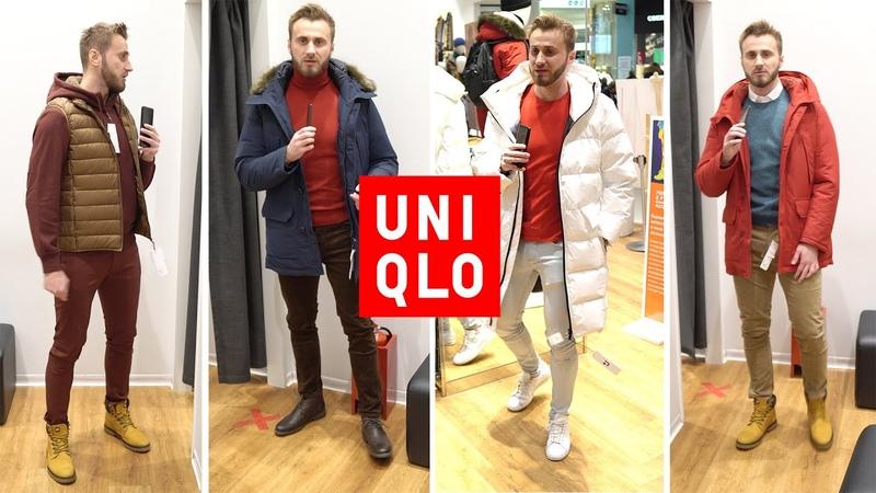 UNIQLO мужская одежда зима 2021 Белый пуховик от J Jil Sander