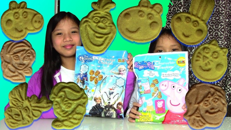 Disney Frozen Peppa Pig Character Cookies and Surprise Egg Game