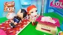 ПЕРВЫЙ ОСМОТР МАЛЫШКИ АЛИСЫ семейка ЛОЛ у доктора. Куклы лол сюрприз мультики видео с куклами