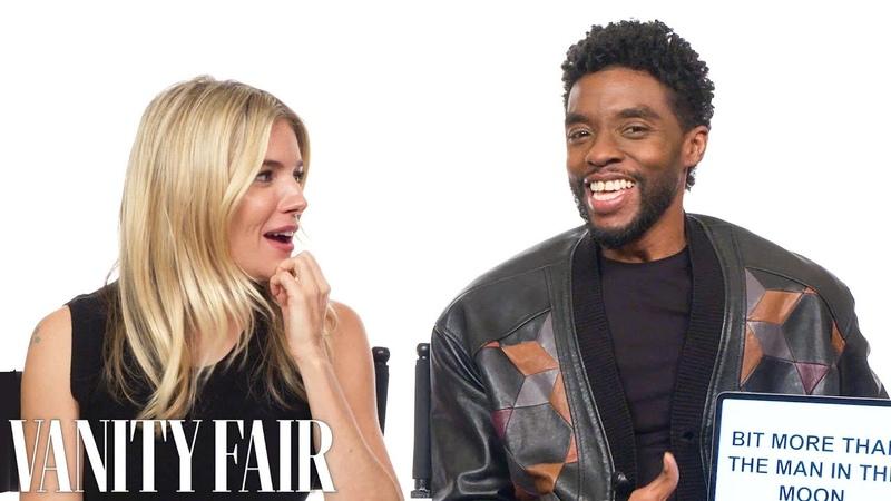 Chadwick Boseman and Sienna Miller Teach You South Carolina and British Slang   Vanity Fair