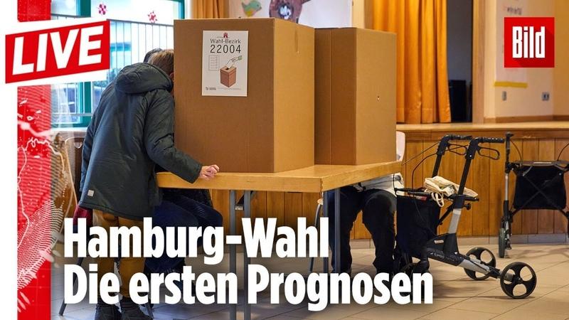 🔴 Hamburg-Wahl | Schau dir mit uns die ersten Prognosen an!