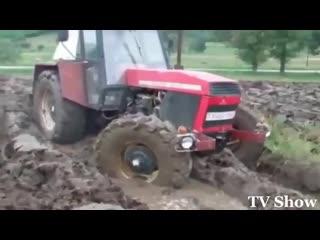 Трактора в ГРЯЗИ  Выход есть всегда  Т-25, К-700, К-744, МТЗ-82, Т-40АМ