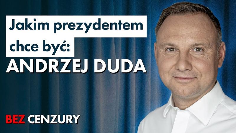 Andrzej Duda o LGBT, TVP, koronawirusie, głosach po Bosaku i o szansach w starciu z Trzaskowskim