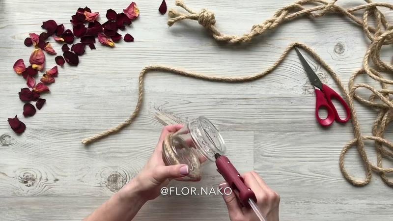 Ароматическая свеча с лепестками розы своими руками.