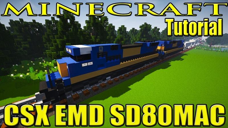 Minecraft Train Tutorial : CSX EMD SD80MAC Engine