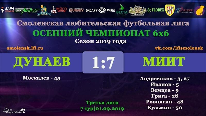 Осенний сезон 6х6-2019. ДУНАЕВ - МИИТ 17 (обзор матчаинтервью)