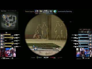 Jumping awp double noscope by luminosity coldzera vs liquid at mlg