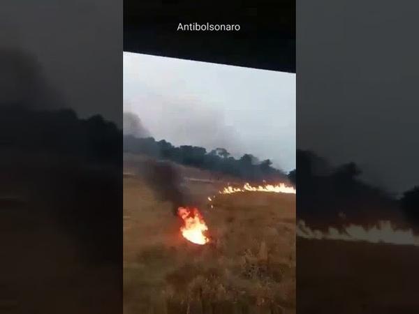 Homem toca fogo no Pantanal