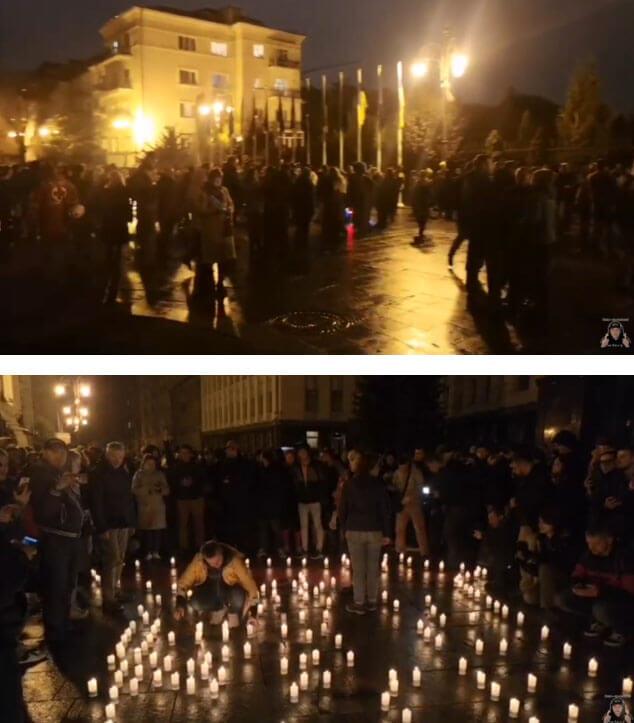 Под окнами Зеленского началась масштабная акция протеста: фото протеста