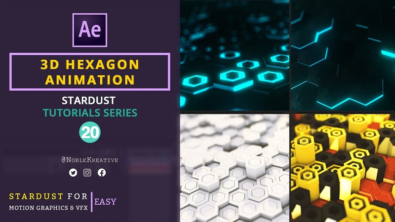 3D Hexagon Animation in AE   After Effects Tutorial