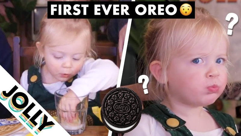 British 2 Year Old Tries OREOS for the First Time!!