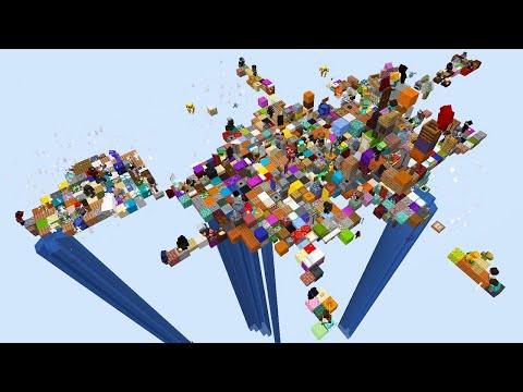 Скрынник смотрит 100 игроков получают каждые 30 секунд случайный предмет в Minecraft