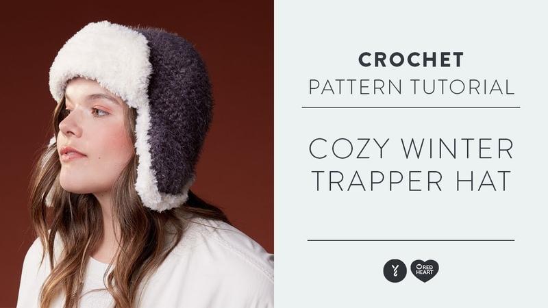 How to Crochet a Trapper Hat Using Red Heart Hygge | Easy Crochet Pattern
