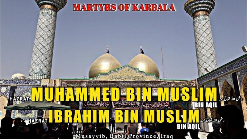 Roza E Muhammad and Ibrahim رضي الله تعالى عنه Martyrs of Karbala Karbala Ki Ziyarat