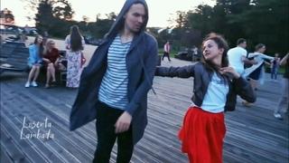 Open Air. Taras and Julia Ivanova. Zouk improvisation. (Everywhere)