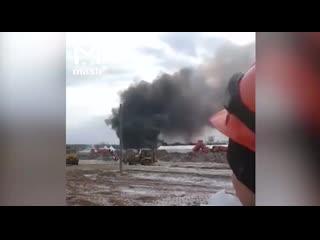 В Новой Москве при стройке новой больницы случился пожар