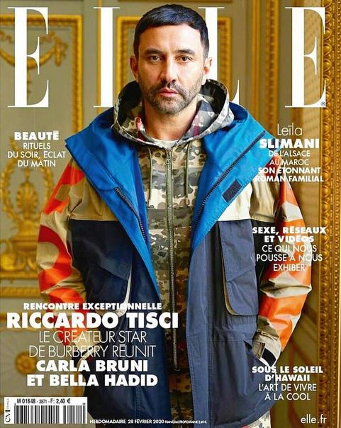 Рикардо Тиши, Белла Хадид и Карла Бруни для ELLE Франция, февраль 2020