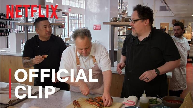 Jon Favreau Roy Choi make flatbread with Chefs Chris Bianco Chad Robertson The Chef Show