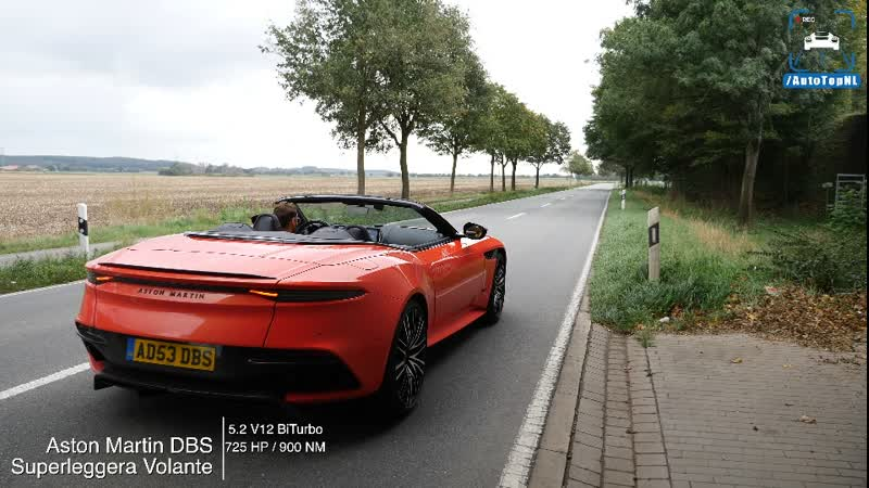 Aston Martin DBS Superleggera Volante 725HP V12 ¦ 0-325km⁄h ACCELERATION by AutoTopNL