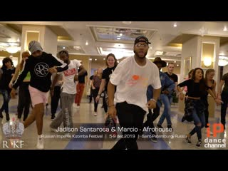 Afrohouse classes by jadilson & marcio || russian imperial kizomba festival 2019