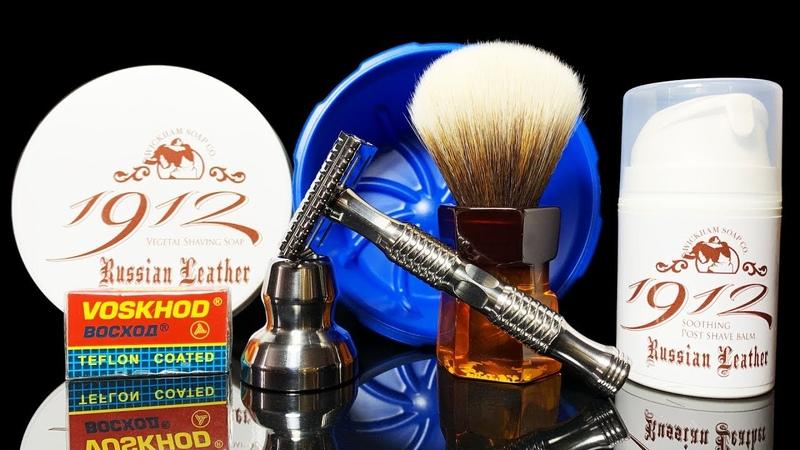 💈 Классическое бритье безопасной бритвой Timeless Razor Wickham Soap Shave Balm Yaqi Brush