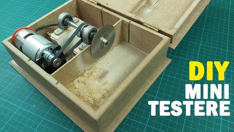 How To Make Table Saw DIY Circular Table Saw With DC 775 Motor