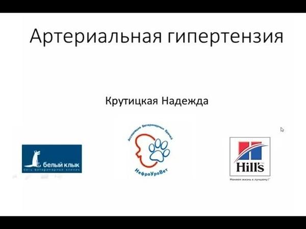 Вебинар №6 школы НЕФРОУРОВЕТ Артериальная гипертензия Лектор Надежда Крутицкая